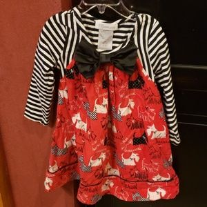 Bonnie Jean mixed pattern dress size 2t